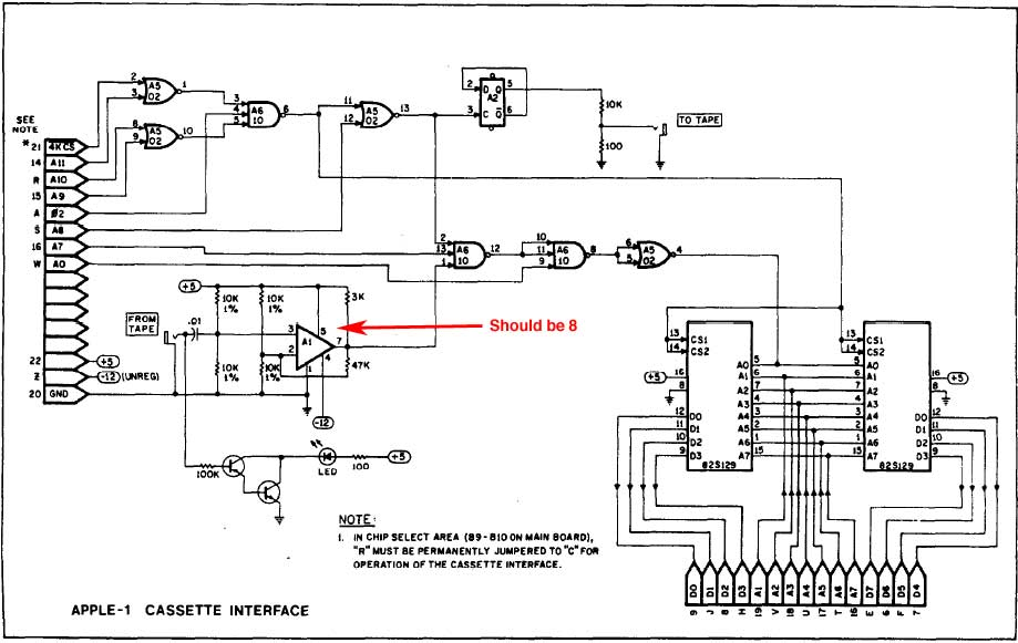 apple cassette interface, schematic