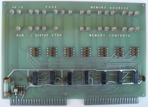 Scelbi front panel board