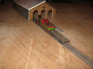 engine house mock up with track plan