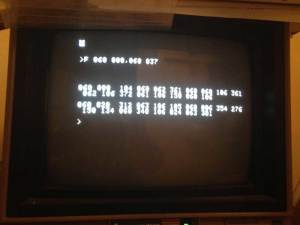 MEA dump memory command - Apple IIe used as TTY emulator connected to reproduction SCELBI 8B