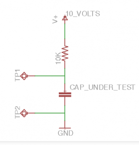 High Value Capacitor Value Test Circuit