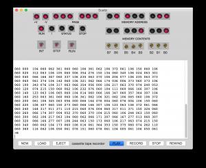 "SCELBI OS/X Emulator Reading a ""tape"""