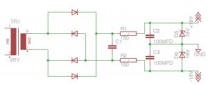 SCELBI Scope power supply