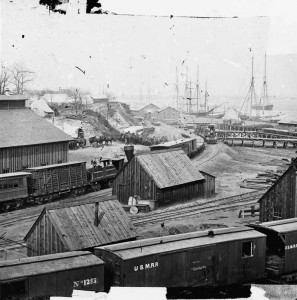 Rail Yard at City Point circa 1865